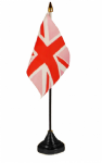 UNION JACK (PINK) - TABLE FLAG